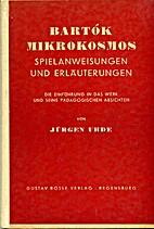Bartók Mikrokosmos : Spielanweisungen u.…