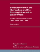 Scholarly Work in the Humanities and the…