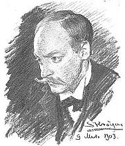 Author photo. The composer Hugo Alfvén by Peder Severin Krøyer, 1903