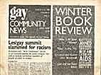 Gay Community News (Volume 15, Number 33)…