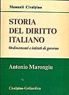 Storia del Diritto Italiano - Ordinamenti e…