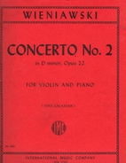 Concerto no.2 in D minor, opus 22, for…