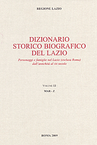 Dizionario storico biografico del Lazio…