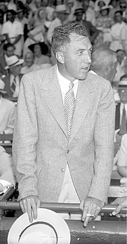 Author photo. Ford Frick at the 1937 All-Star Game in Washington, D.C. [source: Harris & Ewing Collection at the Library of Congress]