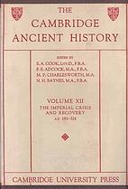 The Cambridge Ancient History. Volume XII:…
