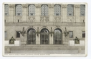 Author photo. Entrance Arches, Boston Public Library, Boston, Mass.