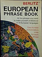 European phrase book by Editions Berlitz Sa