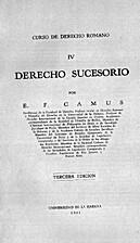 Curso de derecho romano IV : Derecho…