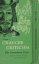 Chaucer Criticism: vol. 2 Troilus and…