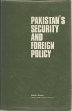 Pakistan's Security and Foreign Policy by…