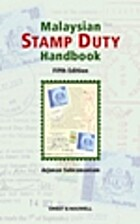 Malaysian Stamp Duty Handbook by Subramaniam…