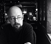 Author photo. A photo of me taken by my wife at the Horse Brass Pub in Portland, OR.