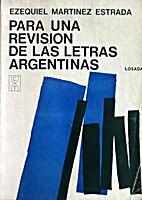 Para Una Revisión de las Letras Argentinas…