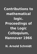 Contributions to mathematical logic.…