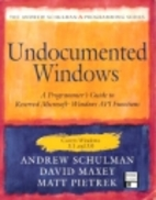 Undocumented Windows: A Programmers Guide to…