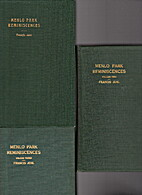 Menlo Park Reminiscences by Francis Jehl