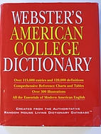 Webster's American College Dictionary by…