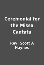 Ceremonial for the Missa Cantata by Rev.…