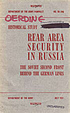 Rear area security in Russia: the Soviet…