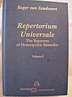 Repertorium Universale: The Repertory of…
