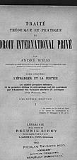 Manuel de droit international privé. Tome…