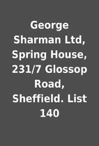 George Sharman Ltd, Spring House, 231/7…