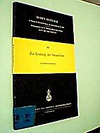 Zur Leistung der Satzzeichen by Harald…