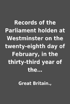 Records of the Parliament holden at…