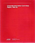Corporate Information Committee Report,…