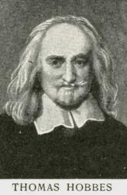 Author photo. Engraving of Thomas Hobbes