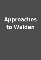Approaches to Walden