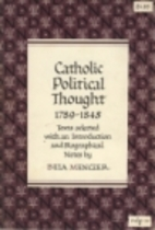 Catholic political thought, 1789-1848 by…
