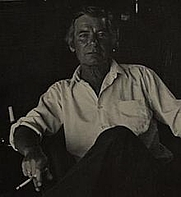 Author photo. Portrait of Thomas Savage. Midnight Line.Thomas Savage. Boston: Little, Brown, and Company, 1976. Back cover.