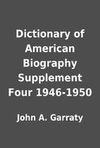 Dictionary of American Biography Supplement…