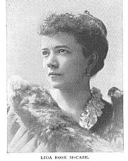 Author photo. Lida Rose McCabe, Buffalo Electrotype and Engraving Co., Buffalo, N.Y.