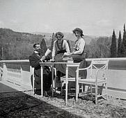 Author photo. Wikipedia, Grand Duchesses Olga and Tatiana Nikolaevna of Russia with their tutor, Pierre Gilliard