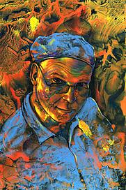 Author photo. Self portrait by Alan M. Clark