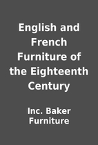 English and French Furniture of the…