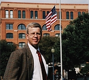 Author photo. The author in Dealey Plaza, 2003.