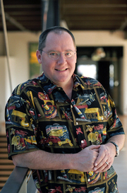 Author photo. John Lasseter in 2002 [credit: Eric Charbonneau]