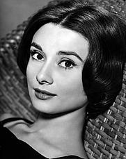 Author photo. Audrey Hepburn in a studio publicity portrait for 1957