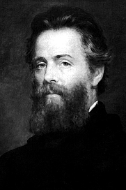 Author photo. Etching of Joseph O. Eaton's portrait of Herman Melville Published c. 1944, painting created before 1891