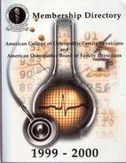 1999-2000 Membership Directory, American…