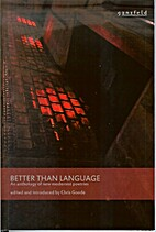 Better than language: an anthology of new…