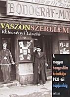 Vászonszerelem : a magyar hangosfilm…