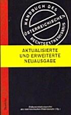 Handbuch des Österreichischen…