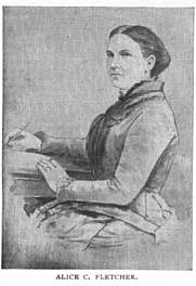 Author photo. Alice Cunningham Fletcher (1838-1923) Buffalo Electrotype and Engraving Co., Buffalo, N.Y.