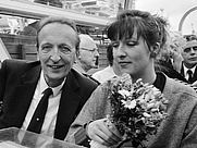 Author photo. Pierre Janssen with his daughter Evelyne in 1987 [credit: Roland Gerrits / Anefo; source: Nationaal Archief; grabbed from Wikipedia]