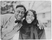 Author photo. Huddie Ledbetter (Leadbelly) and Martha Promise Ledbetter: Library of Congress Prints and Photographs Division, Lomax Collection (REPRODUCTION NUMBER:  LC-DIG-ppmsc-00660)
