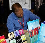 Author photo. MoCCA Art Festival 2009, photo by Lampbane